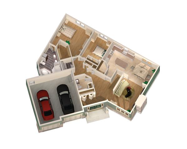 Country Floor Plan - Main Floor Plan Plan #25-4657