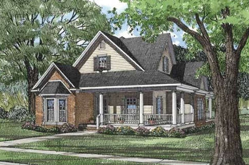 Dream House Plan - Country Exterior - Front Elevation Plan #17-1031
