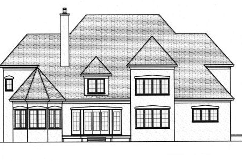 European Exterior - Rear Elevation Plan #413-818 - Houseplans.com