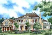 Southern Style House Plan - 5 Beds 4 Baths 5209 Sq/Ft Plan #27-305 Exterior - Front Elevation