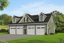 Country Exterior - Front Elevation Plan #932-112