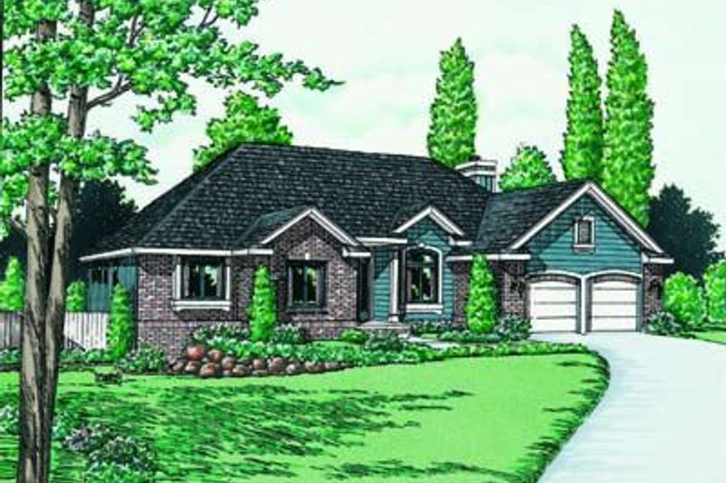 Traditional Exterior - Front Elevation Plan #20-646 - Houseplans.com