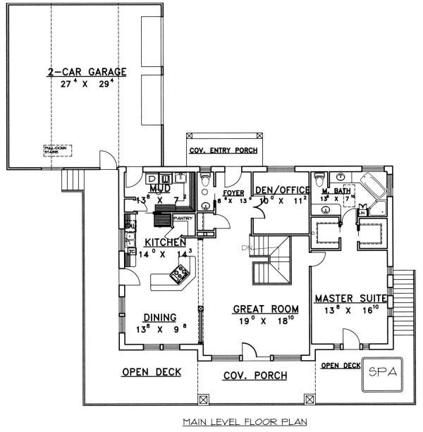 Ranch Floor Plan - Main Floor Plan Plan #117-561