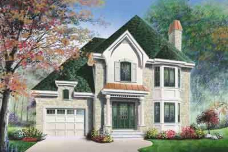 Dream House Plan - European Exterior - Front Elevation Plan #23-480