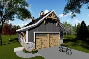 Architectural House Design - Country Exterior - Front Elevation Plan #70-1407