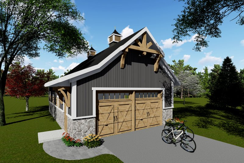 Country Exterior - Front Elevation Plan #70-1407