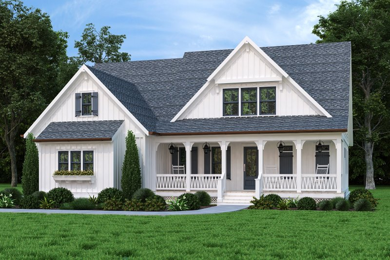 Home Plan - Farmhouse Exterior - Front Elevation Plan #927-1019