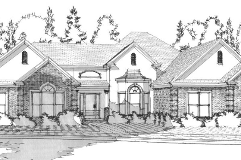 Traditional Style House Plan - 4 Beds 2.5 Baths 2415 Sq/Ft Plan #63-207 Exterior - Front Elevation