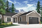 Country Style House Plan - 2 Beds 2 Baths 1040 Sq/Ft Plan #23-2697 Exterior - Front Elevation