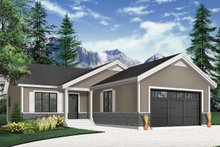 House Plan Design - Country Exterior - Front Elevation Plan #23-2697