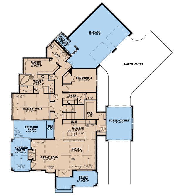 Dream House Plan - Modern Floor Plan - Main Floor Plan #923-198