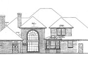 European Style House Plan - 4 Beds 4.5 Baths 3670 Sq/Ft Plan #310-172 Exterior - Rear Elevation