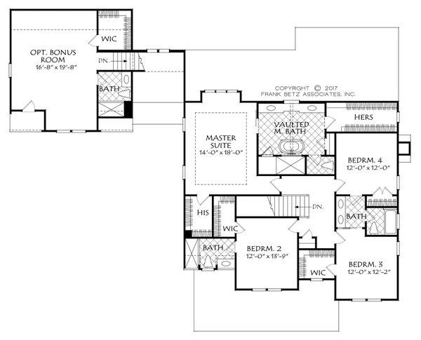 Farmhouse Floor Plan - Upper Floor Plan Plan #927-992