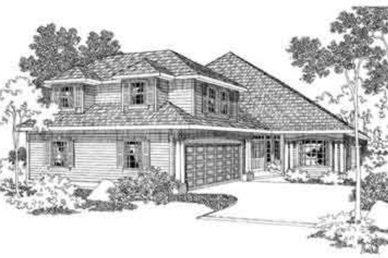 Modern Exterior - Front Elevation Plan #124-351 - Houseplans.com