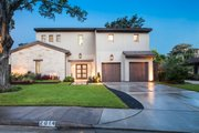 Contemporary Style House Plan - 4 Beds 5.5 Baths 6301 Sq/Ft Plan #449-21 Exterior - Front Elevation