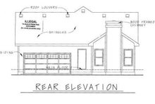 Home Plan - Cottage Exterior - Rear Elevation Plan #20-1215