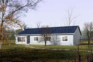 Ranch Exterior - Front Elevation Plan #1-445