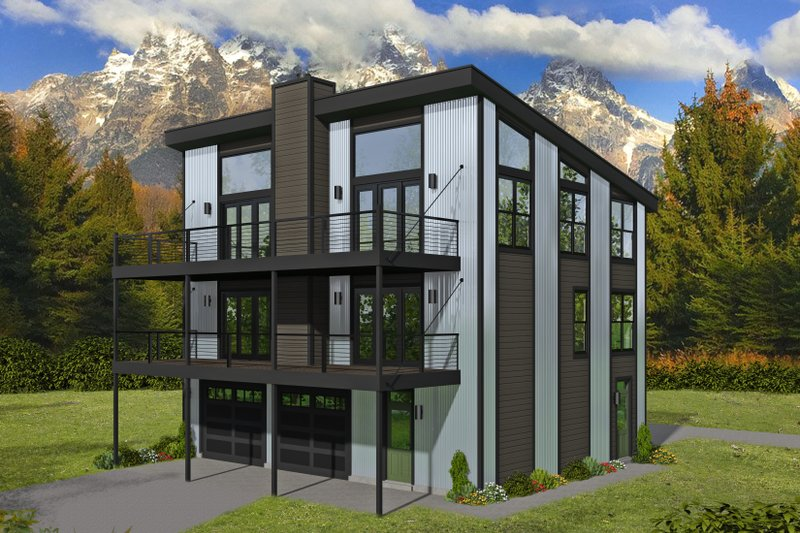 Home Plan - Contemporary Exterior - Front Elevation Plan #932-256