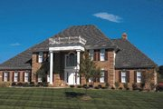Southern Style House Plan - 4 Beds 3.5 Baths 3473 Sq/Ft Plan #20-202 Exterior - Front Elevation