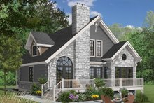 Dream House Plan - Cottage Exterior - Rear Elevation Plan #23-2047
