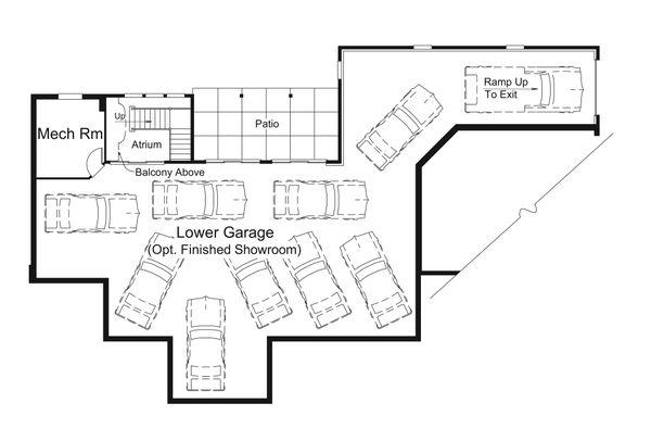 Dream House Plan - Country Floor Plan - Lower Floor Plan #57-691