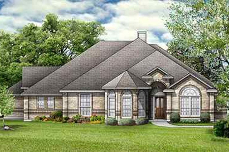 Dream House Plan - European Exterior - Front Elevation Plan #84-143