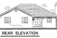 House Blueprint - Traditional Exterior - Rear Elevation Plan #18-181