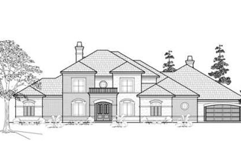 Traditional Exterior - Other Elevation Plan #61-390 - Houseplans.com