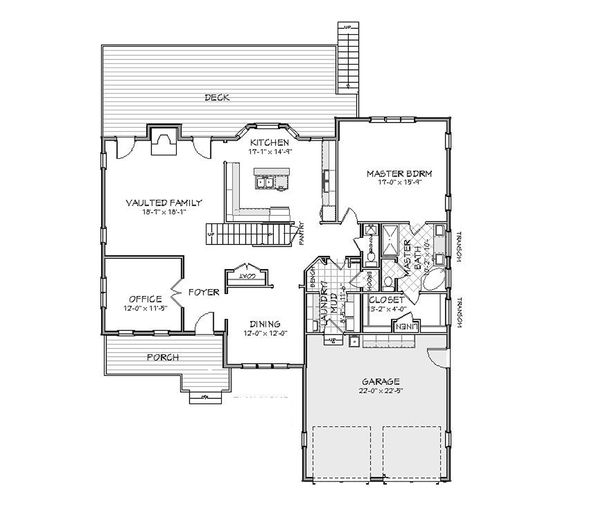 Traditional Floor Plan - Main Floor Plan Plan #898-13