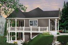Cottage Exterior - Front Elevation Plan #23-421