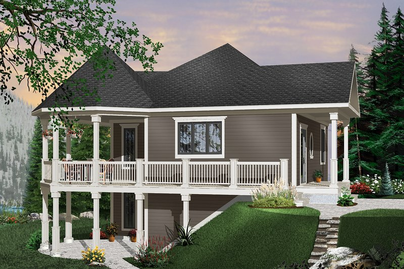 Cottage Exterior - Front Elevation Plan #23-421