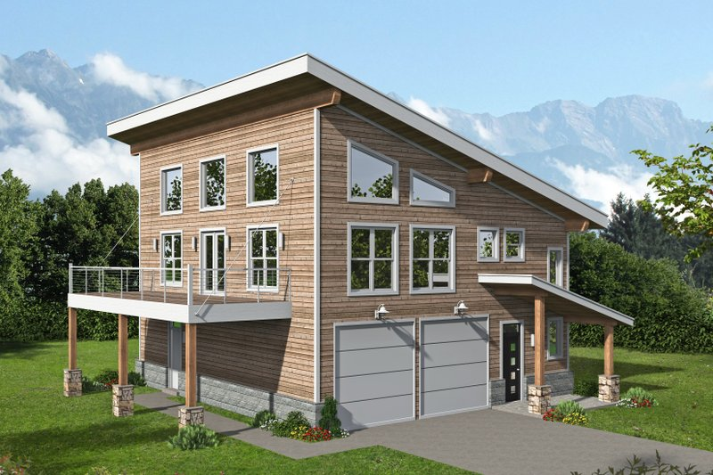 Home Plan - Contemporary Exterior - Front Elevation Plan #932-365