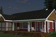 Craftsman Style House Plan - 3 Beds 2 Baths 2034 Sq/Ft Plan #51-520 Exterior - Rear Elevation