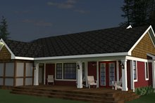 Craftsman Exterior - Rear Elevation Plan #51-520