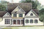 Colonial Style House Plan - 4 Beds 2.5 Baths 2773 Sq/Ft Plan #119-108 Exterior - Front Elevation