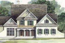 Home Plan - Colonial Exterior - Front Elevation Plan #119-108