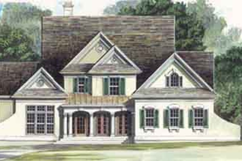 Dream House Plan - Colonial Exterior - Front Elevation Plan #119-108