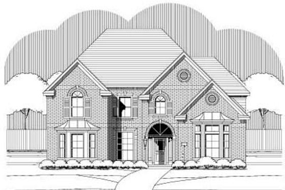 Traditional Exterior - Front Elevation Plan #411-104