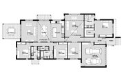 Modern Style House Plan - 3 Beds 2.5 Baths 3740 Sq/Ft Plan #496-22 Floor Plan - Main Floor Plan