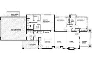 Craftsman Style House Plan - 3 Beds 2 Baths 1576 Sq/Ft Plan #895-99 Floor Plan - Main Floor