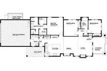 Craftsman Floor Plan - Main Floor Plan Plan #895-99