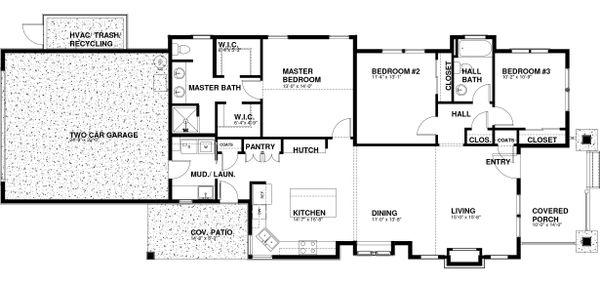 House Plan Design - Craftsman Floor Plan - Main Floor Plan #895-99