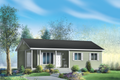 Ranch Style House Plan - 3 Beds 1 Baths 941 Sq/Ft Plan #25-4659 Exterior - Front Elevation