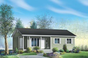 Ranch Exterior - Front Elevation Plan #25-4659