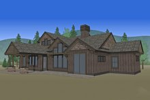 Craftsman Exterior - Rear Elevation Plan #892-11