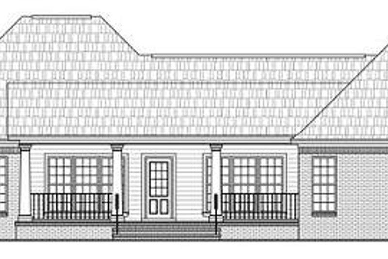 Traditional Exterior - Rear Elevation Plan #21-278 - Houseplans.com