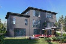 Dream House Plan - Contemporary Exterior - Rear Elevation Plan #1066-117