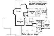 House Plan - 3 Beds 2.5 Baths 2886 Sq/Ft Plan #51-531 Floor Plan - Lower Floor Plan