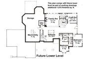 House Plan - 3 Beds 2.5 Baths 2886 Sq/Ft Plan #51-531 Floor Plan - Lower Floor