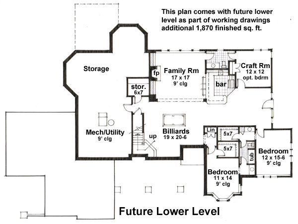 Floor Plan - Lower Floor Plan Plan #51-531